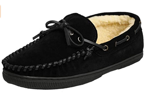 Men's Tamarac by Slippers International •Arizona• Fleece- lined Suede Slipper