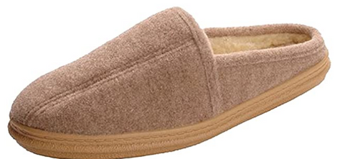 Men's Slippers International •Auburn• Fleeced-lined Scuff Slipper
