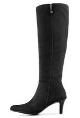 TAHARI Women's Payton •Black Faux Suede• Knee high Boot - ShooDog.com