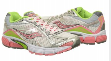SAUCONY Women's Pro Grid Ignition 4 •White/Silver/Pink• Running Shoe - ShooDog.com