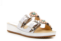 ELLEN TRACY Women's •Patrick• Jeweled Buckle Sandal
