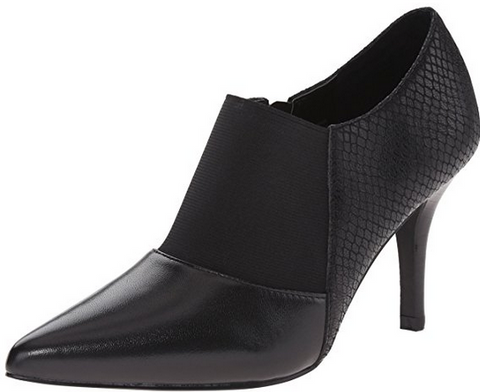 Womens Tahari  •Bea• Snake-Embossed Leather Bootie - Black - ShooDog.com
