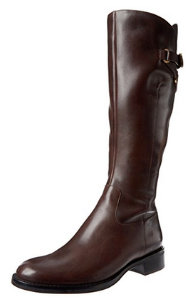 ECCO Women's Hobart Tall Strap Boot -Black Leather- - ShooDog.com