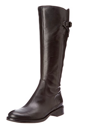 ECCO Women's Hobart Tall Strap Boot -Brown Leather- - ShooDog.com
