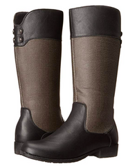 Propet Women's •Belmont•  Riding Boots - Black/Grey - ShooDog.com