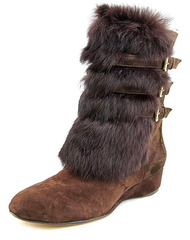 TARYN ROSE Women's •Fritzy• Fur Demi-Wedge Boots - ShooDog.com
