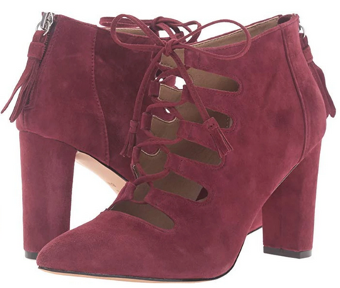 ADRIENNE VITTADINI Women's •Neano• Suede Lace-up Bootie