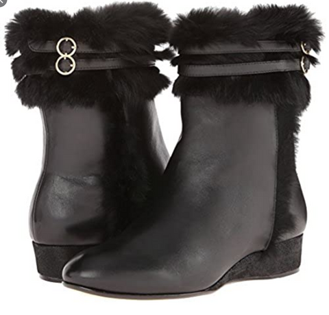 TARYN ROSE Women's •Fizzy• Fur Trimed Ankle Boot