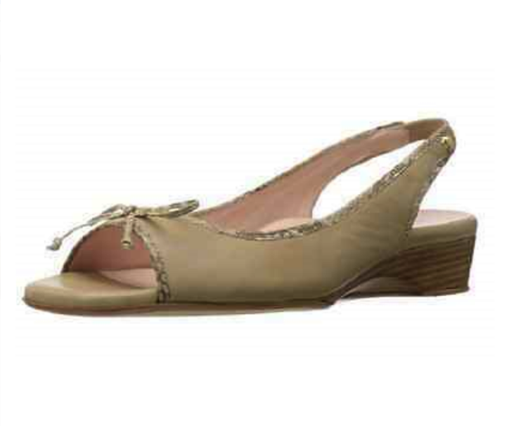 TARYN ROSE Women's •Karol• Open-toe Slingback Wedge