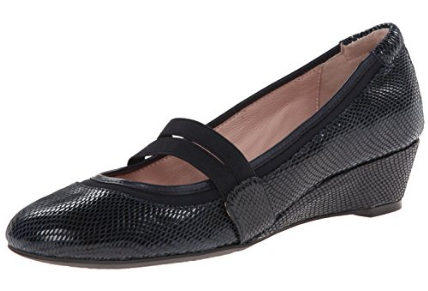TARYN ROSE Women's •Pylon• Lizard Embossed Slip-on Wedge
