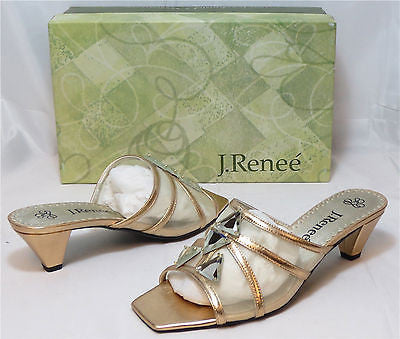J. RENEE Women's Zelda Leather/Mesh Slide - Savana  - Multi SZ NIB - MSRP $90 - ShooDog.com