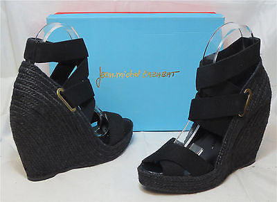 JEAN-MICHEL CAZABAT Women's Zesta Wedge - Black - Multi SZ NIB - MSRP $295!