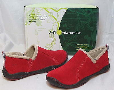 J-41 Women's Horizon Slip On - Red - SZ 6M - NIB - MSRP $89
