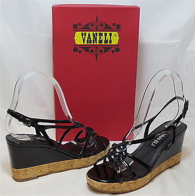 VANELI Women's Parnella Wedge - Black Patent - Multi SZ NIB - MSRP $120 - ShooDog.com