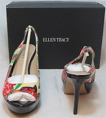 ELLEN TRACY Women's Alec Platform Slingbacks - Multicolor - 9M NIB - MSRP $89 - ShooDog.com