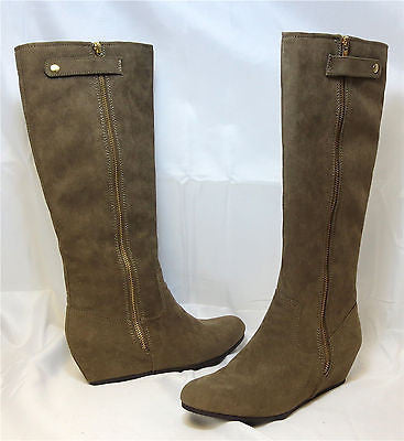Mix NO 6 Women's Treasure Wedge Boot - Taupe Suede - ShooDog.com