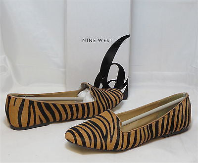 NINE WEST Women's Panto Flat - Natural/Black - NIB - Multi Sz - MSRP $79