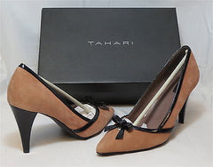 Tahari Women's Alexa Pump - Dusty Pink/Black - 7M - NIB - MSRP $105 - ShooDog.com