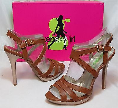 KENSIE GIRL Women's Steffie Sandal - Brown Sugar - Multi SZ NIB - MSRP $69 - ShooDog.com