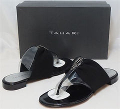 TAHARI Women's Princess Sandal - Black - Sz 6.5M NIB - MSRP $69 - ShooDog.com