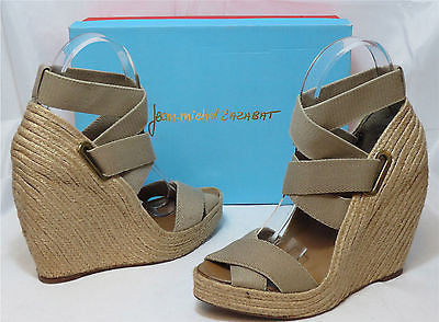JEAN-MICHEL CAZABAT Women's Zesta Wedge - Tan - Multi SZ NIB - MSRP $295!