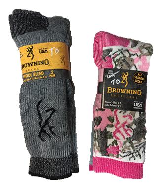 Browning •Merino Wool Blend• Socks For Men and Women