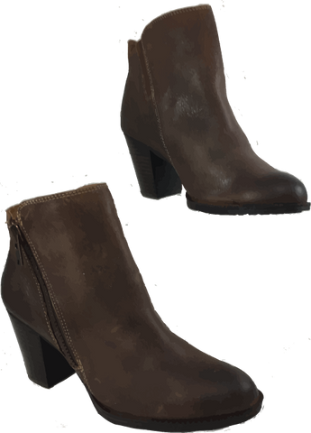 SOFFT Women's Wera •Brown Distressed Leather• Mid Heel Ankle Boots - ShooDog.com