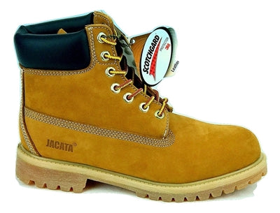 "Men's JACATA •6"" Premium Wheat Nubuck•  Work Boot"