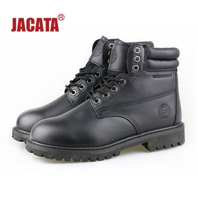 "Men's JACATA 6"" Classic Work Boot -  Black Leather"