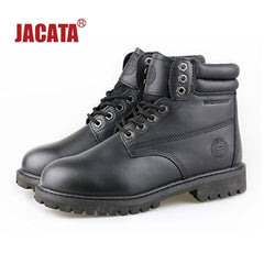 "Men's JACATA 6"" Classic Work Boot -  8603 Black Leather - ShooDog.com"