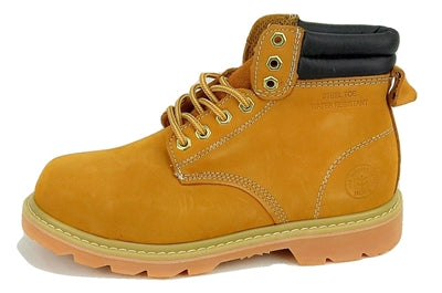 "Men's JACATA 6"" Classic Nubuck  Steel Toe Work Boot - 8605 Wheat - ShooDog.com"