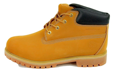 "Men's JACATA •Premium 5"" Wheat Nubuck•  Weatherproof Work Boot"