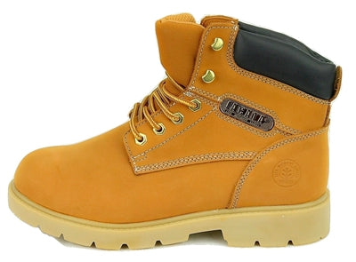 "Men's JACATA •Premium 6"" Wheat Nubuck•  Weatherproof Work Boot"