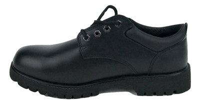 Men's JACATA •Low-Cut Black Smooth Leather•  Work Oxford