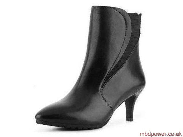 Tahari Franka •Black Leather•  Ankle   Bootie - ShooDog.com