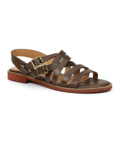 G.H. BASS Women's •Armidy• Strappy Sandal - Black Leather - ShooDog.com