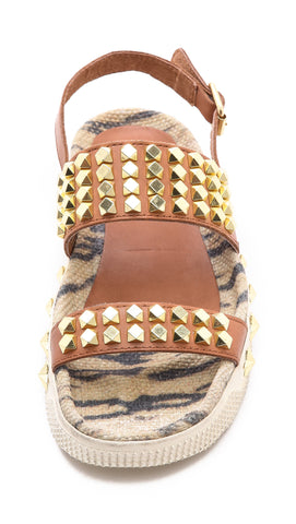 ASH ITALIA Women's Karma Platform Sandal -Cookie/Natural- - ShooDog.com