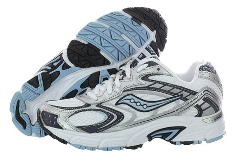 SAUCONY Women's Grid Cohesion 3 -White/Blue- Running Shoe - ShooDog.com