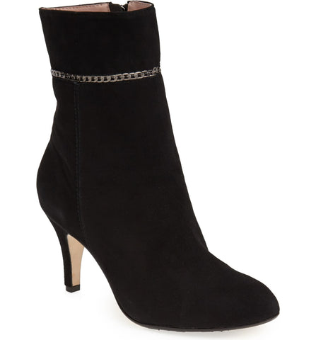 TARYN ROSE Women's •Trelle • Chain-Trim Suede Ankle Boot - ShooDog.com