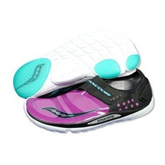Women's Saucony Hattori •Black/Purple.• Minimalist Running Shoe - ShooDog.com