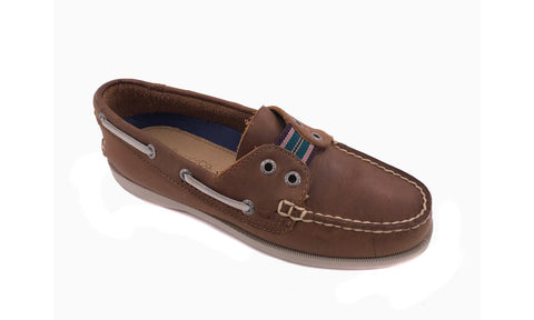 G.H. BASS Women's •SKIPPER• Boat Shoe - Rust  Leather - ShooDog.com