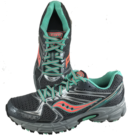 SAUCONY Women's Grid Cohesion TR6 -Grey/Coral- Running Shoe •Wide Width• - ShooDog.com