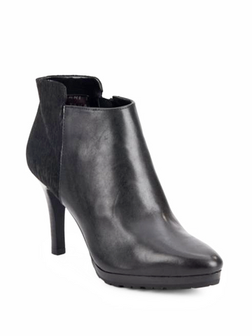Tahari Gordon  •Black Leather & Textile•  Bootie - ShooDog.com
