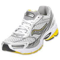 SAUCONY Women's ProGrid Ride 2  -White/Yellow/Silver- Running Shoe