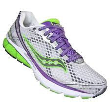 Women's Saucony PowerGrid Triumph 10 •Silver/Purple/Green• Running Shoe - ShooDog.com