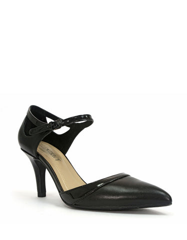 Women's Ellen Tracy - Becca  - Smooth Leather & Patent Pump - ShooDog.com