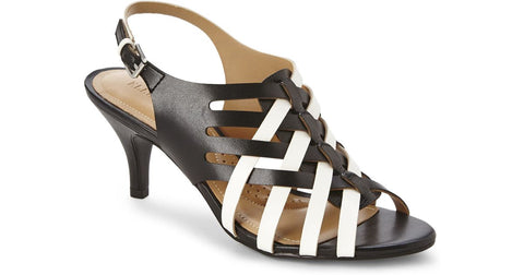 ELLEN TRACY •Sonoma• Black/White  Pump