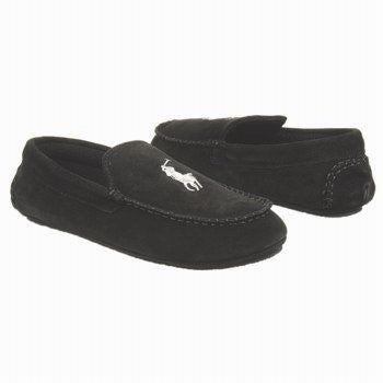 POLO RALPH LAUREN  •Desmond Moc• Suede Slipper - Fits Women or Youth - ShooDog.com