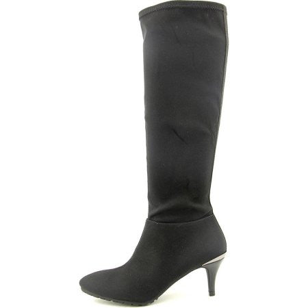 "TAHARI Women's ""Felipa"" •Black Stretch Fabric• Knee High Boot - ShooDog.com"