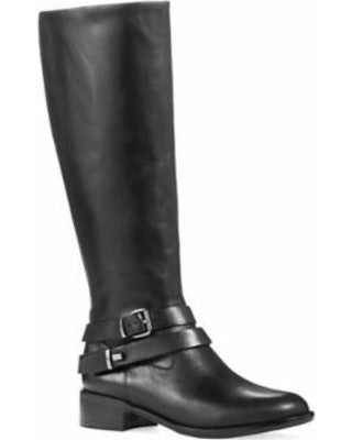 FRENCH CONNECTION  Women's Yulia •Black• Round Toe Leather Knee High Boot - ShooDog.com